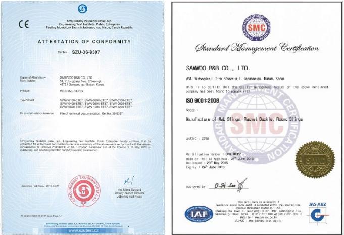 Giấy chứng nhận chất lượng hãng SAMWOO-Hàn Quốc