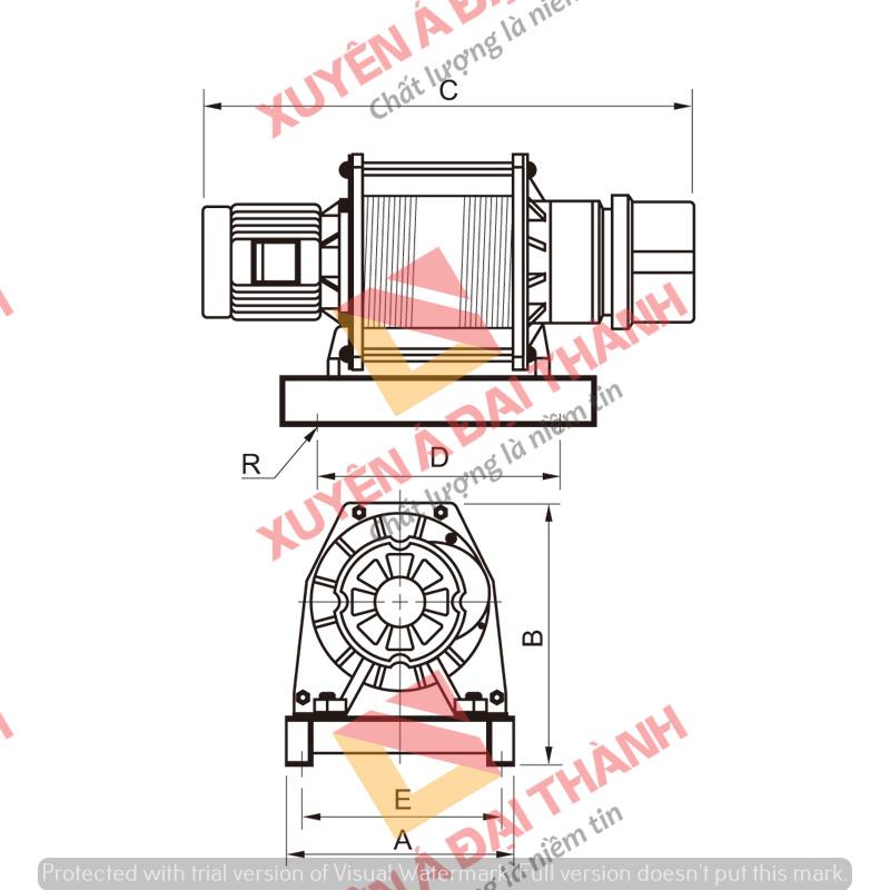 Tời thang tải hàng 1 tấn KIO- Winch Model CY- 1000