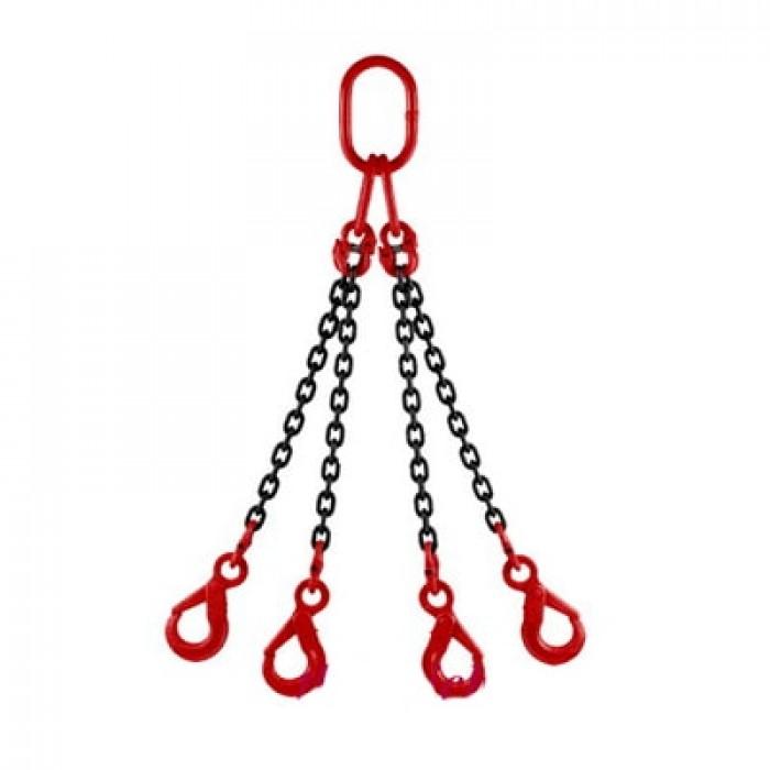 khóa nối xích nối vòng khuyến và dây xích tạo thành sling xích