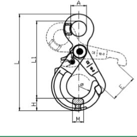 cấu tạo móc cẩu tròn tự khóa