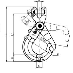 cấu tạo móc cẩu chốt tự khóa